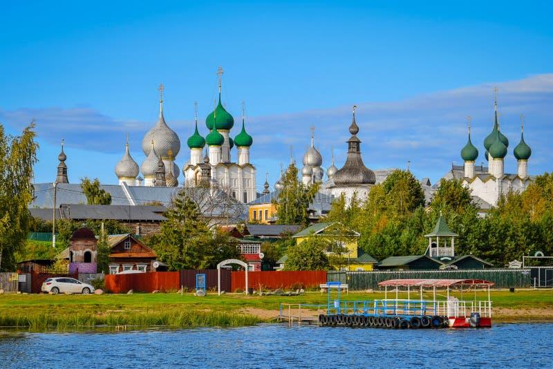 Old town of Rostov, Yaroslavl region stock images
