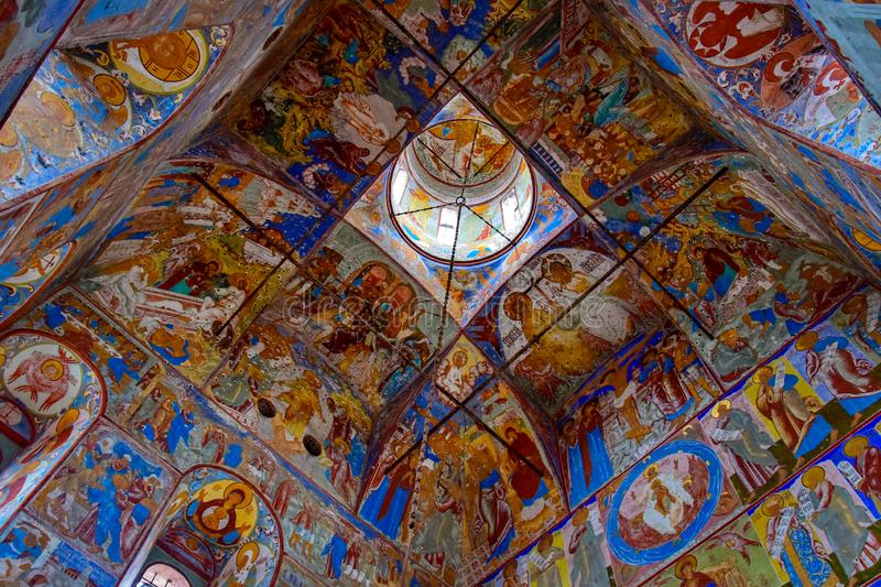 Murals in the Rostov Kremlin, Yaroslavl region stock image