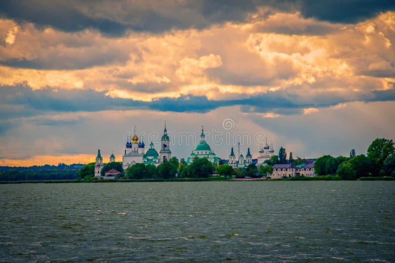 Spaso-Yakovlevsky Monastery in Rostov Veliky, Russia stock image
