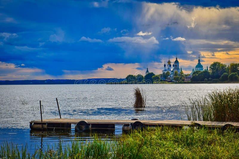 Shore of Lake Nero, Yaroslavl region royalty free stock images