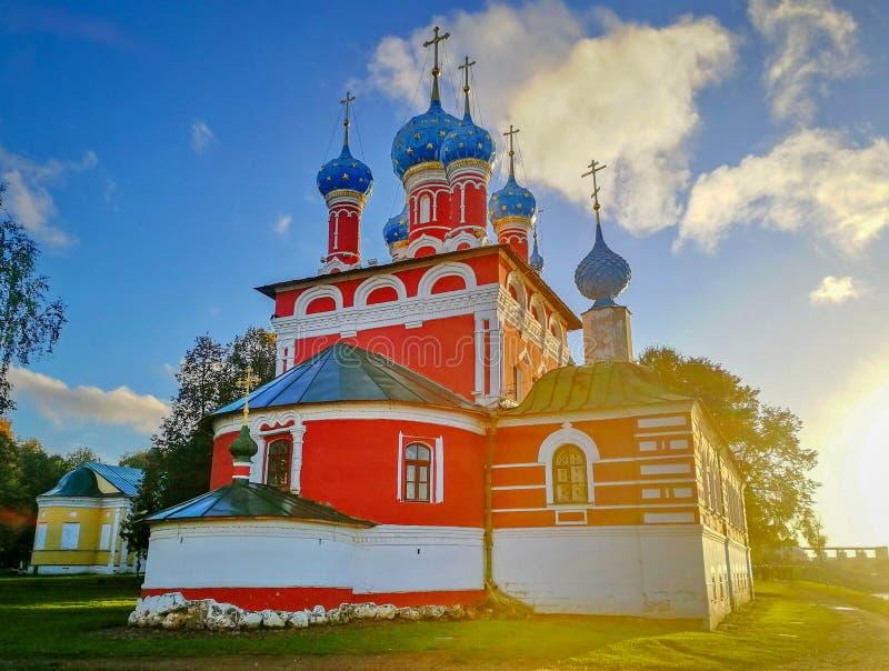 Church of Demetrius on the Blood in Uglich, Yaroslavl region stock images