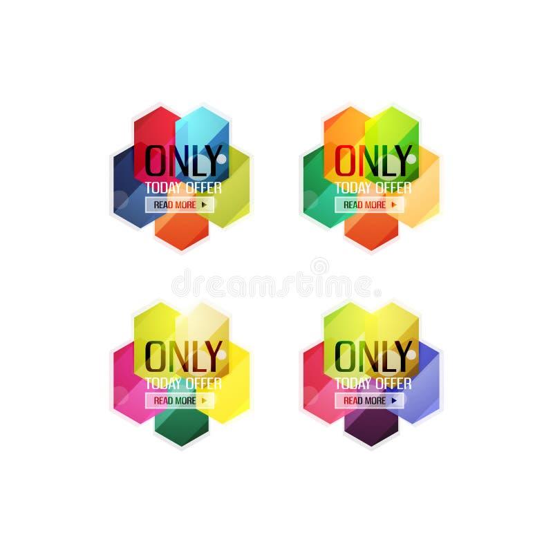 Download Ярлыки продажи вектора абстрактные геометрические Иллюстрация вектора - иллюстрации насчитывающей origami, неподдельно: 81805499