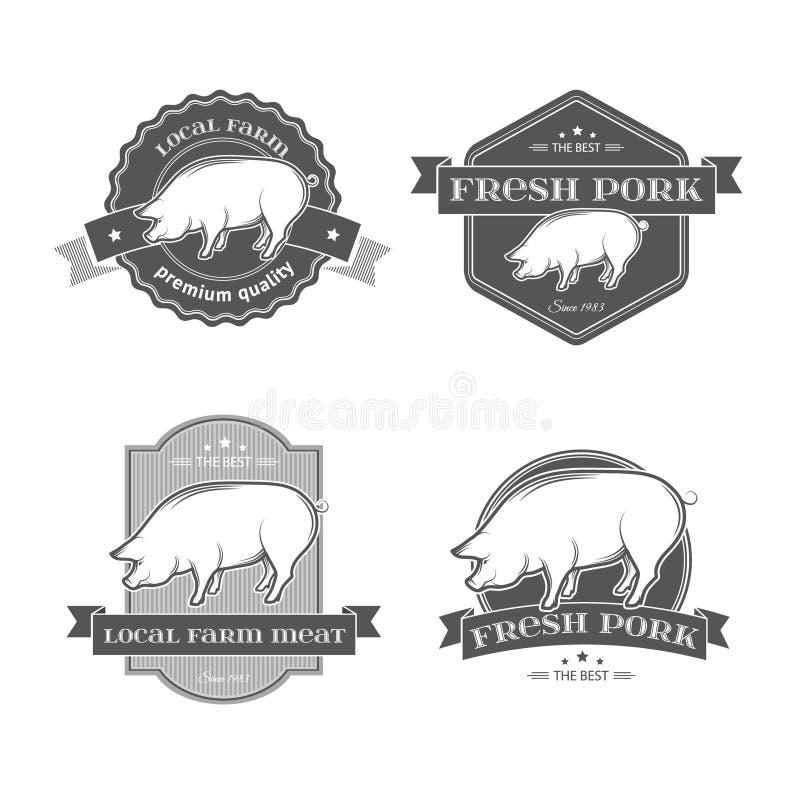 Ярлыки свинины бесплатная иллюстрация