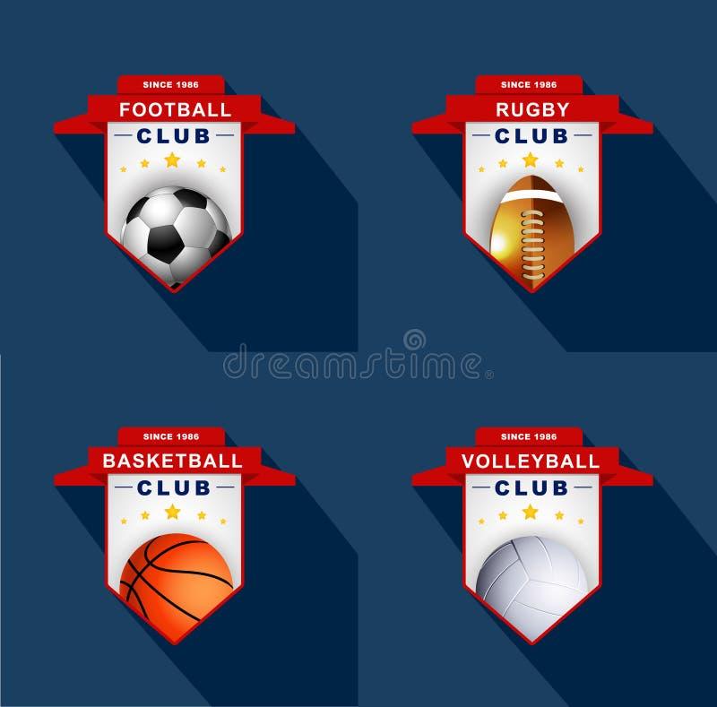 Ярлыки спорт, значок, эмблема иллюстрация штока