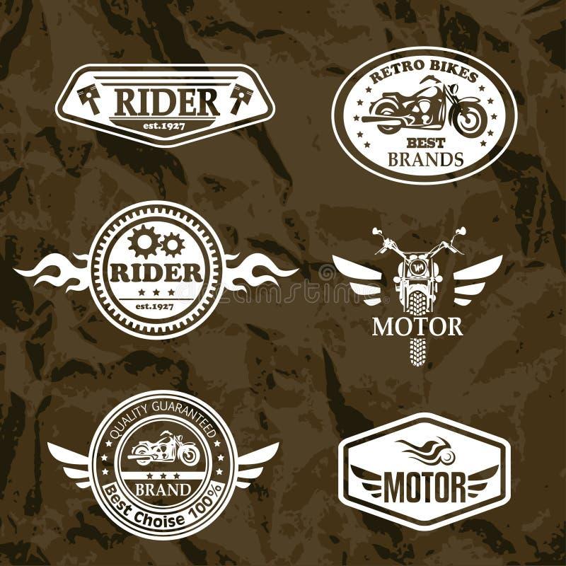 Ярлыки grunge мотоцикла бесплатная иллюстрация