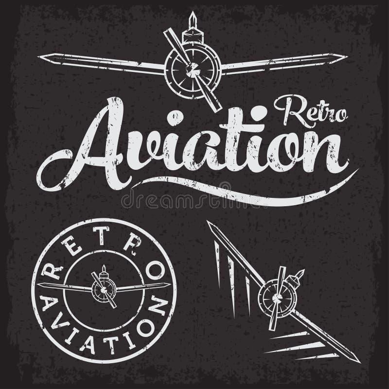 Ярлык авиации Grunge бесплатная иллюстрация