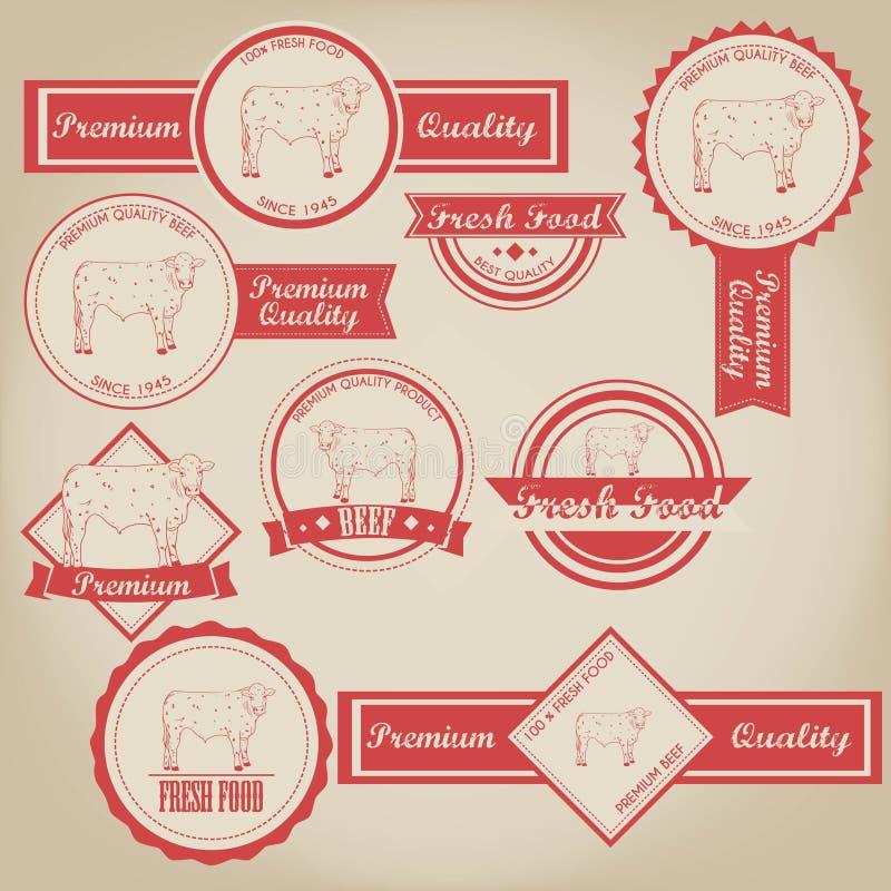 Ярлык говядины винтажный бесплатная иллюстрация