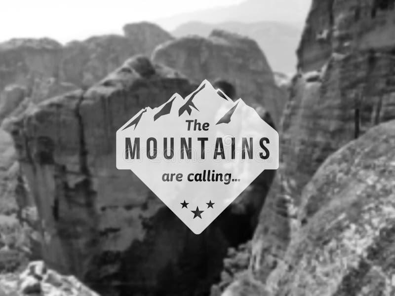 Ярлык горы бесплатная иллюстрация