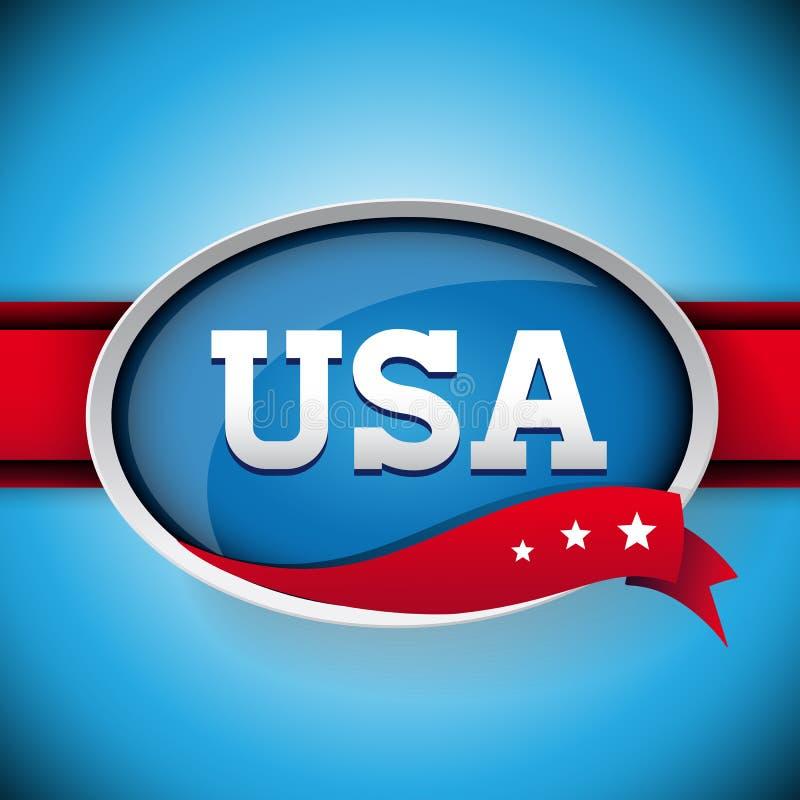 Ярлык или кнопка США Стоковое Изображение