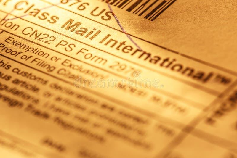 Ярлык конверта столба стоковые фото