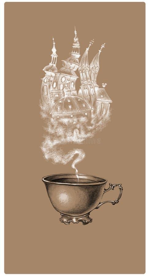 Ярлык кофе чая стоковые фото