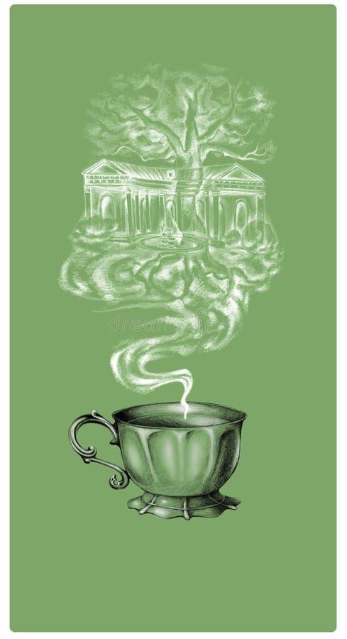 Ярлык кофе чая стоковые фотографии rf