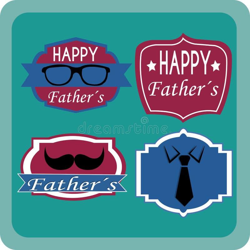 Ярлык отца иллюстрация вектора