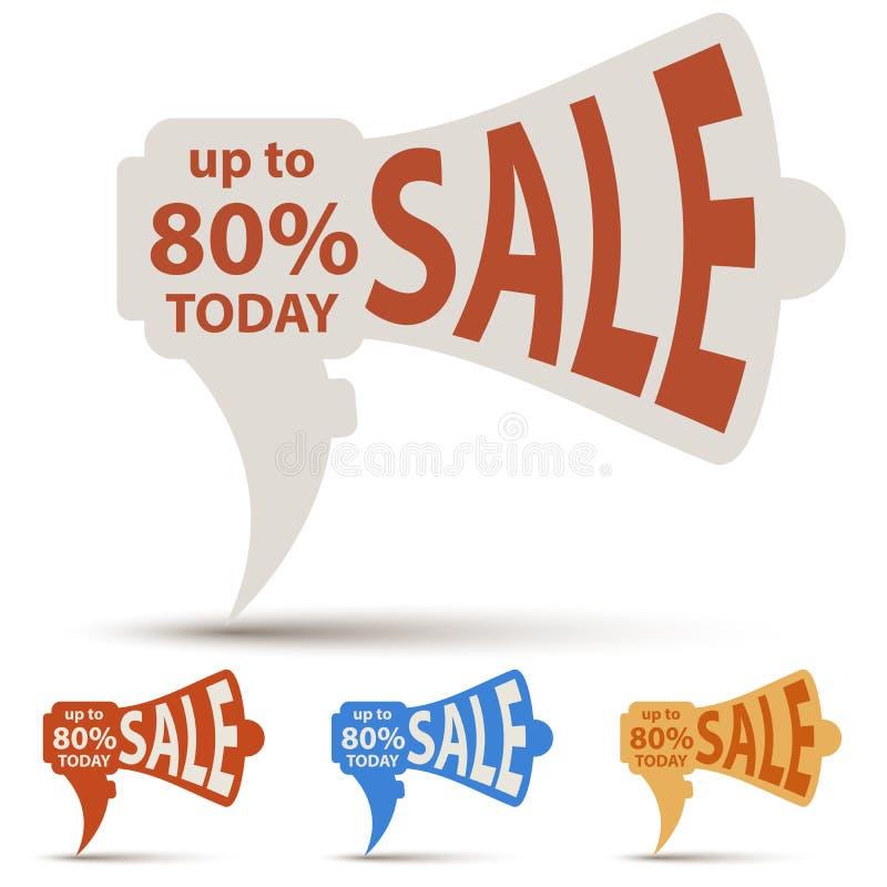 Ярлык продажи отрезка бумаги громкоговорителя бесплатная иллюстрация