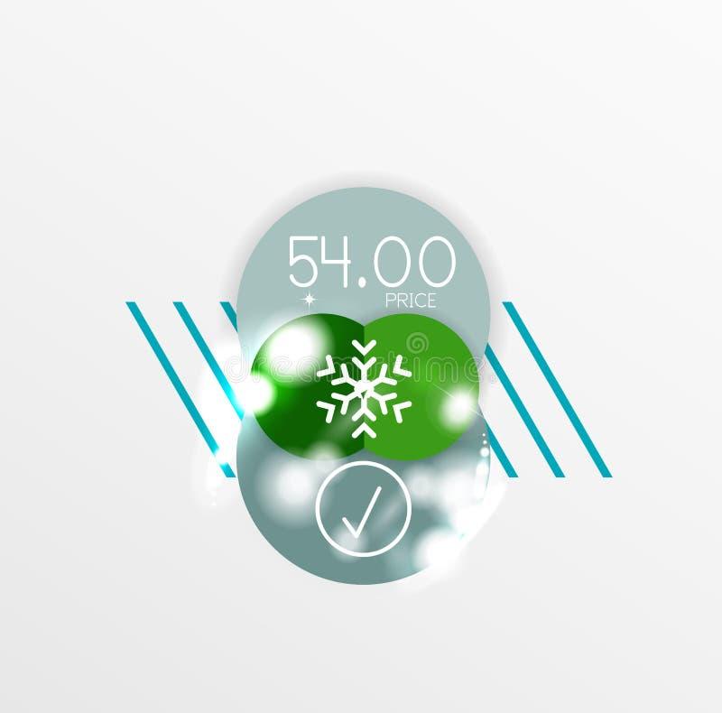 Download Ярлык рождества вектора или стикер ценника Иллюстрация вектора - иллюстрации насчитывающей сторонника, рабат: 81805367