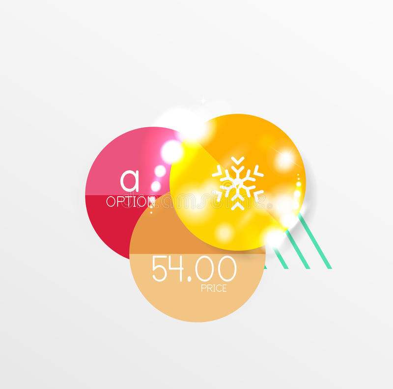 Download Ярлык рождества вектора или стикер ценника Иллюстрация вектора - иллюстрации насчитывающей двухстороннего, бумага: 81805371