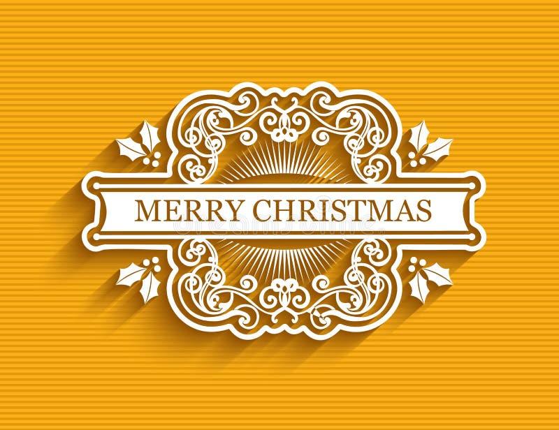 Ярлык рождества типографский бесплатная иллюстрация