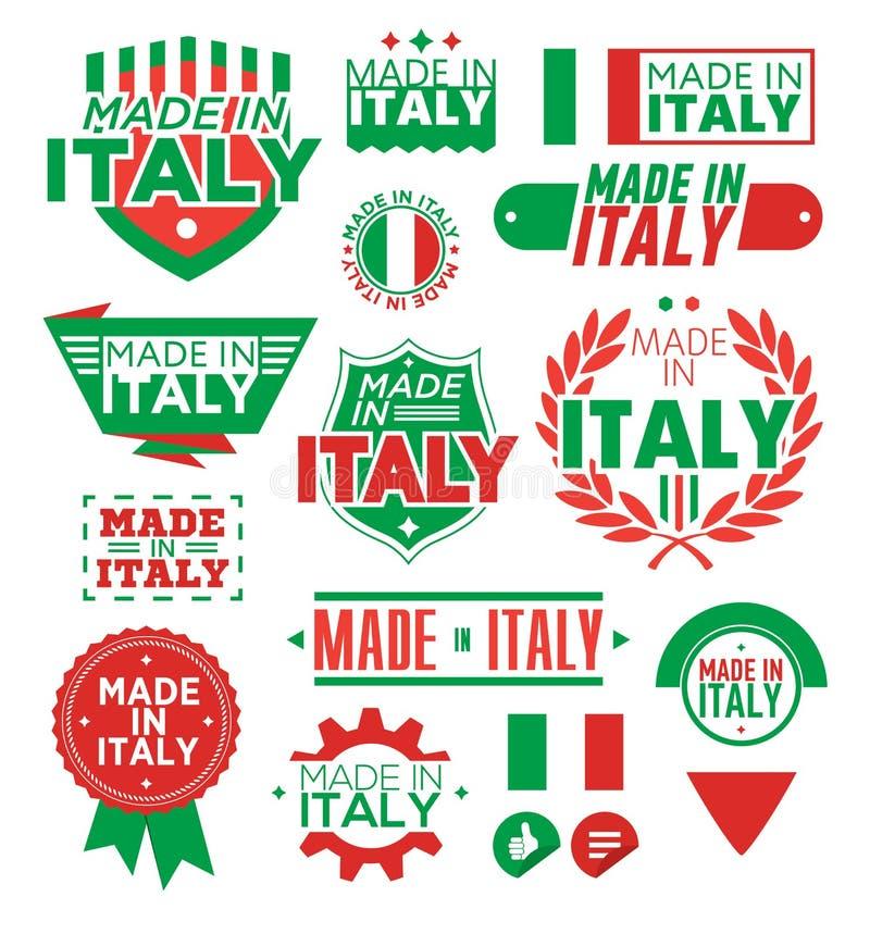 Ярлык сделанный в Италии иллюстрация вектора