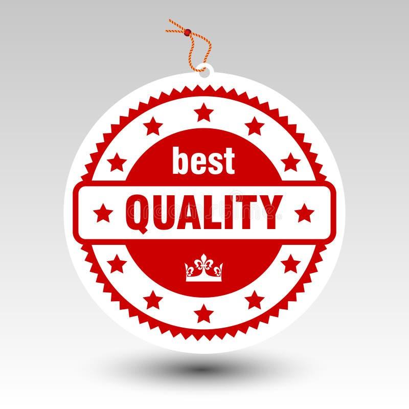 Ярлык ценника штемпеля вектора бумажный красный самый лучший качественный бесплатная иллюстрация