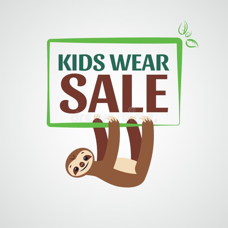 Ярлык для продажи Продажа одежды детей, носка стоковые фото