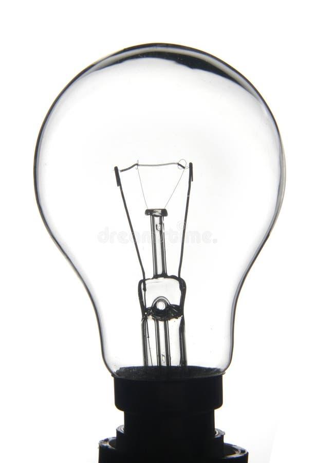 ясная белизна lightbulb стоковое изображение rf