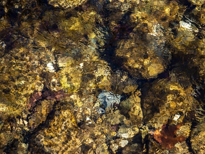 Ясная вода заводи горы - предпосылка текстуры стоковая фотография rf