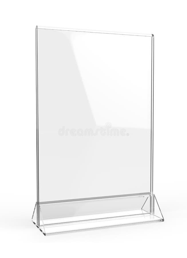 Ясная пластмасса и меню акриловых говорунов таблицы выдвиженческое чистосердечное ставят выставочную витрину на обсуждение pi кар бесплатная иллюстрация