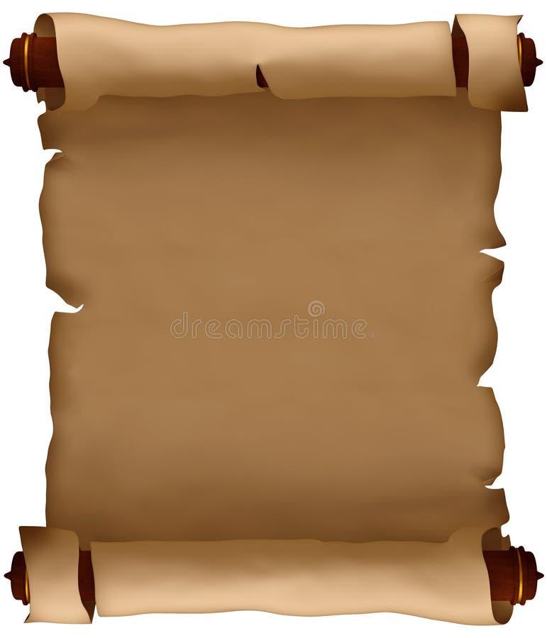 ясная рукопись старая иллюстрация вектора