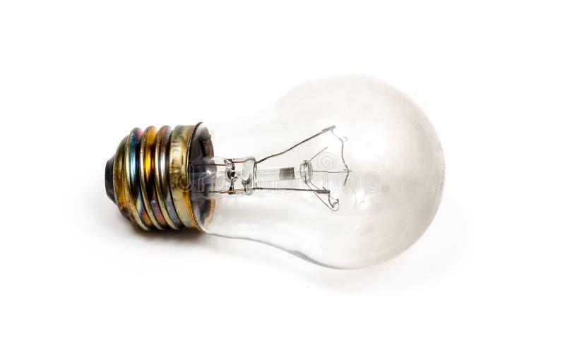 Ясная электрическая лампочка, идея стоковое фото