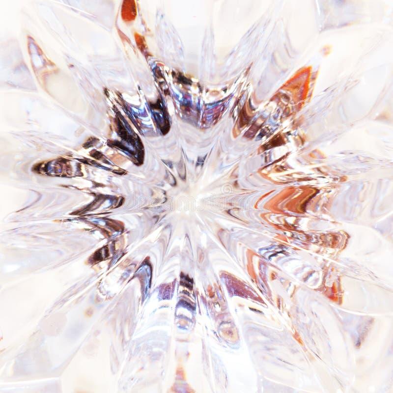 Ясное кристаллическое стекло стоковое изображение