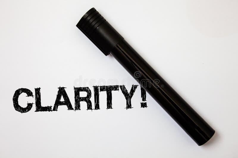 Ясность текста сочинительства слова Концепция дела для сообщений идей точности прозрачности усвояемости очищенности точности опре стоковая фотография rf