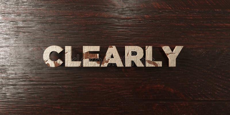 Ясно - grungy деревянный заголовок на клене - 3D представило изображение неизрасходованного запаса королевской власти иллюстрация вектора