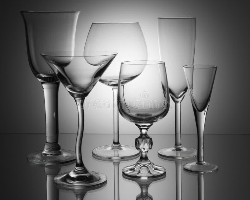 ясные стекла стоковые изображения rf