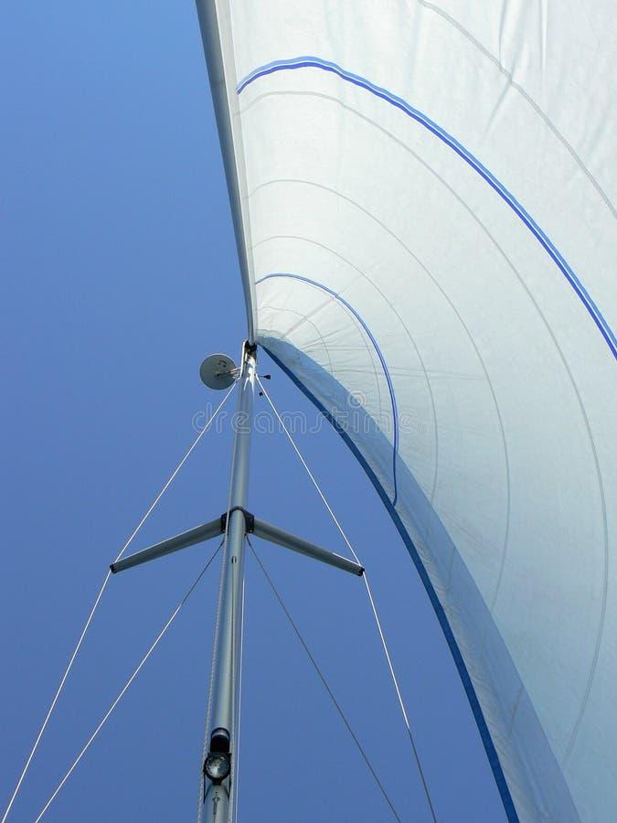 яхта ветрила рангоута стоковое изображение