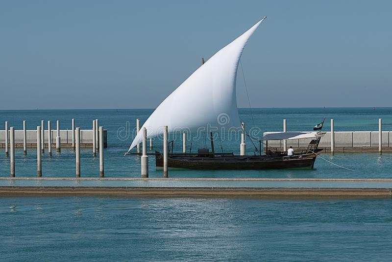 Яхта в Персидском заливе стоковые фото