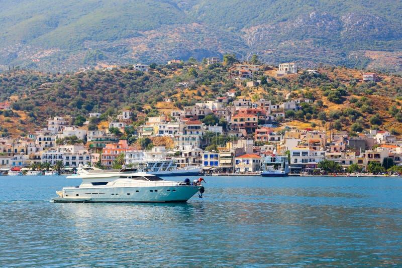Яхта - Греция стоковое фото rf