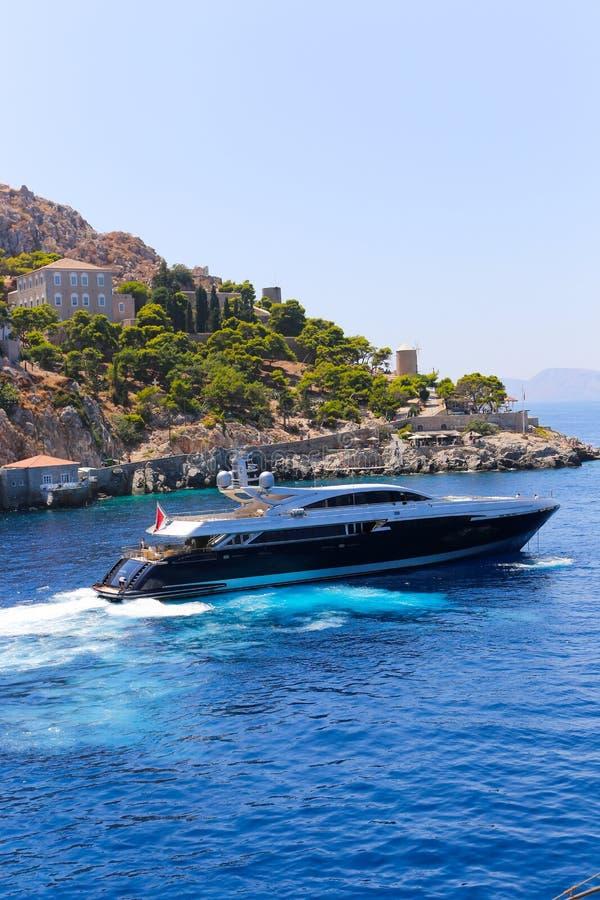 Яхта - Греция стоковые изображения