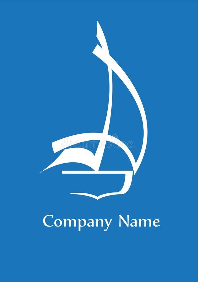 яхта логоса иллюстрация штока