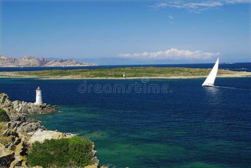 яхта маяка стоковые изображения rf