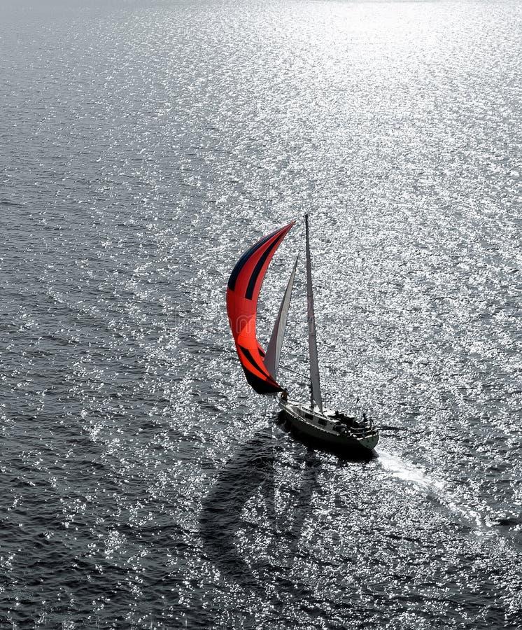 яхта моря стоковое изображение rf