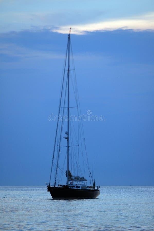 яхта моря стоковые изображения rf