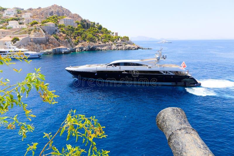 Яхта - острова Греции стоковое изображение
