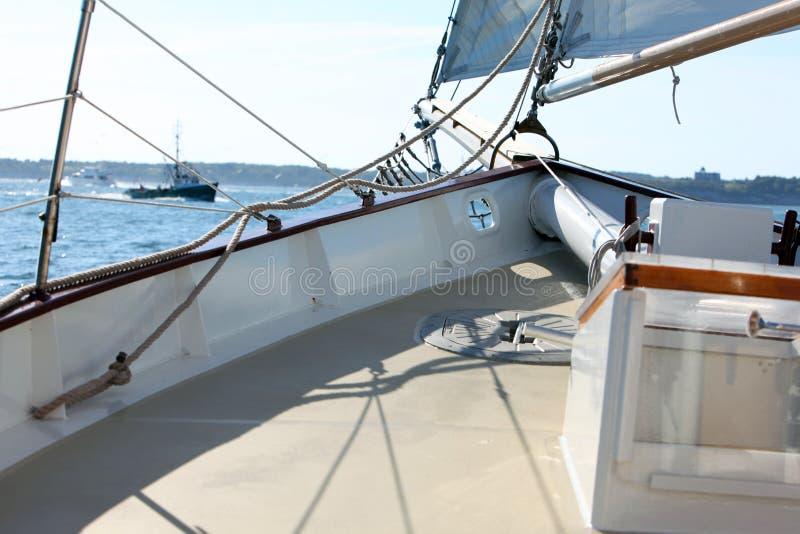 яхта палубы стоковое фото