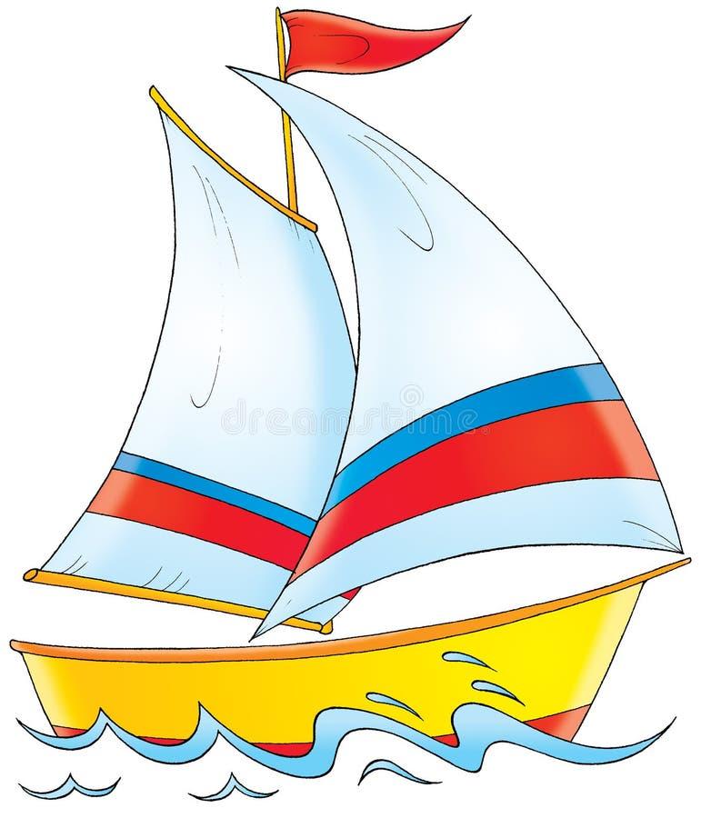 Яхта иллюстрация вектора