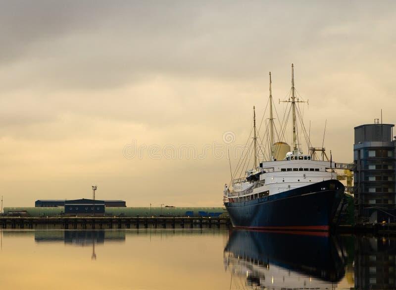 яхта britannia королевская стоковое изображение rf