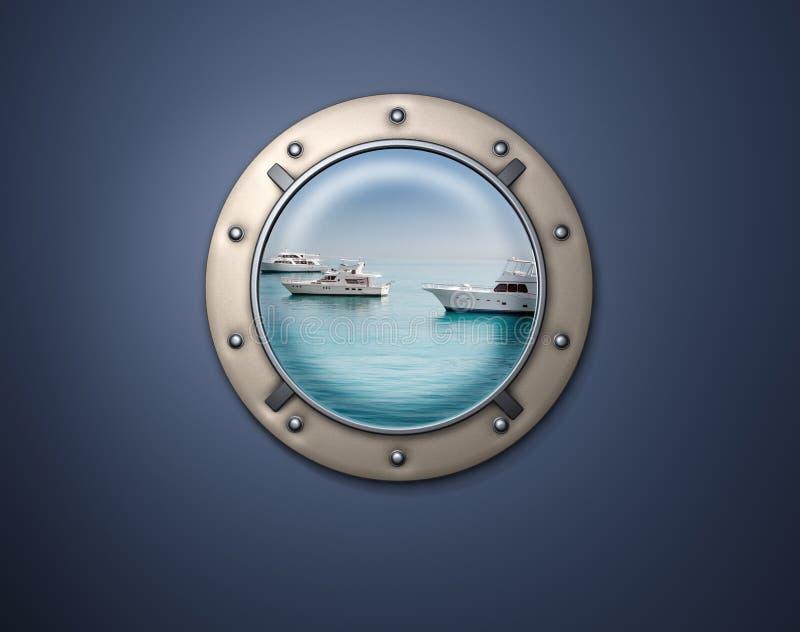 яхта porthole стоковое фото