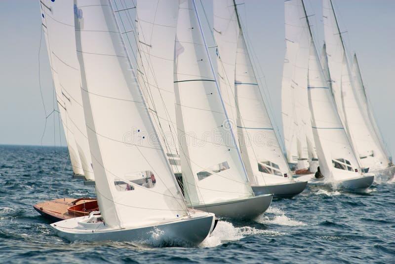 яхта regatta дракона стоковая фотография