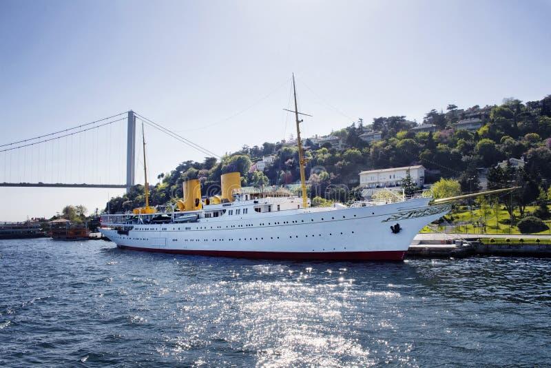 Яхта Savarona стоковое изображение