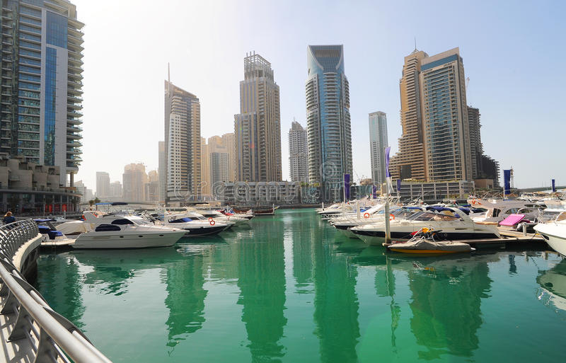 яхты Дубай стоковое фото rf