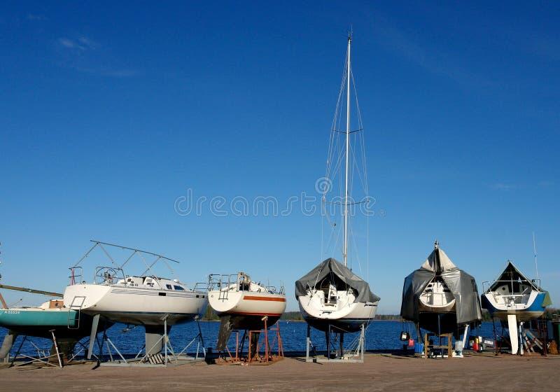 Яхты на зачаливании Стоковые Изображения RF